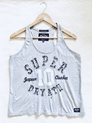 Superdry Camiseta sin mangas gris claro-gris
