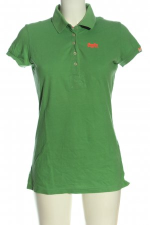 Superdry Polo-Shirt grün Casual-Look