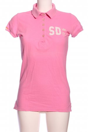 Superdry Polo rosa stile casual
