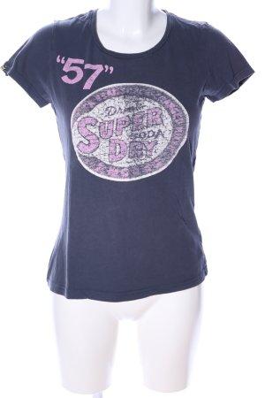 Superdry Print-Shirt Motivdruck Casual-Look