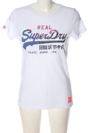 Superdry Print-Shirt weiß Schriftzug gedruckt Casual-Look