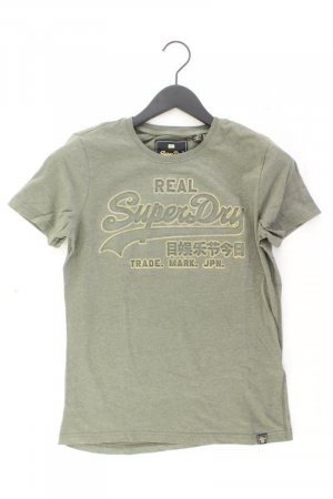 Superdry Printshirt Größe 38 Kurzarm olivgrün aus Baumwolle