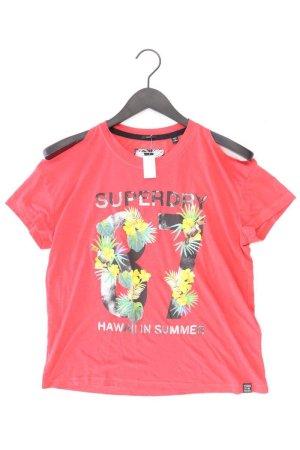Superdry Printshirt Größe S Kurzarm rot aus Polyester