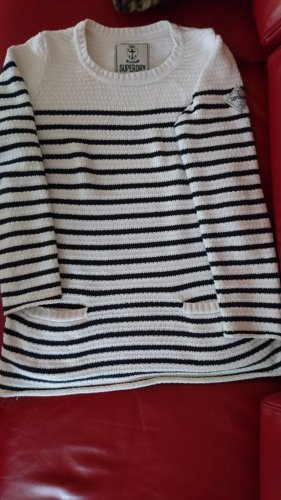 Superdry Long Sweater natural white