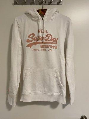 Superdry Jersey con capucha blanco-salmón