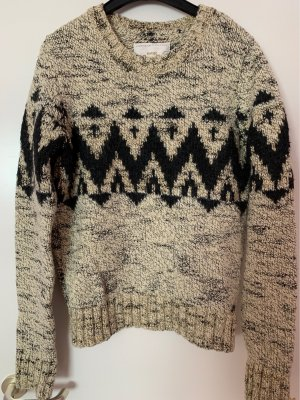 Superdry Norwegian Sweater cream-black
