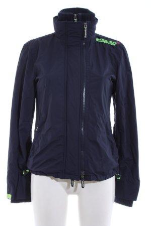 Superdry Regenjacke blau-grün Casual-Look