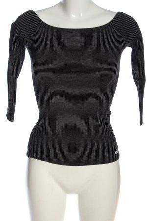 Superdry Ringelshirt schwarz-weiß Streifenmuster Casual-Look