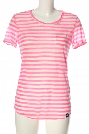 Superdry Ringelshirt pink-creme Allover-Druck Casual-Look