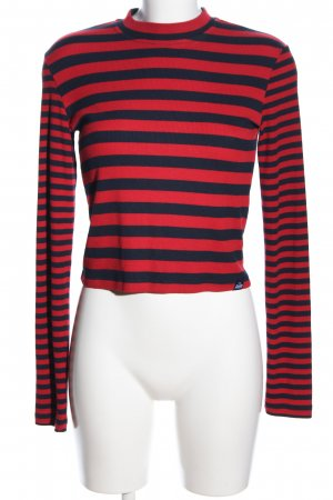 Superdry Ribbed Shirt red-black striped pattern casual look