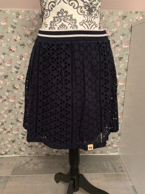Superdry Koronkowa spódnica ciemnoniebieski