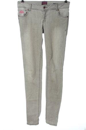 Superdry Jeans a sigaretta grigio chiaro stile casual