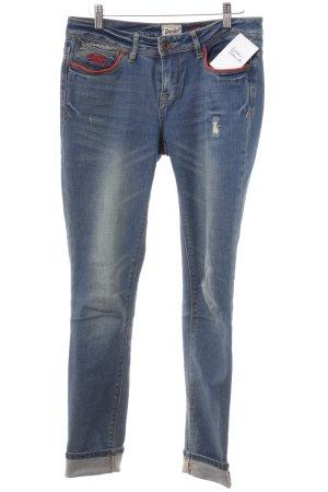 Superdry Jeans cigarette bleu acier style délavé