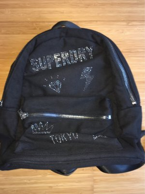 Superdry Mochila escolar negro