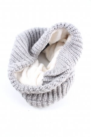 Superdry Snood light grey-natural white cable stitch casual look