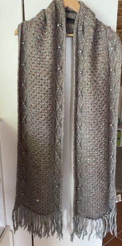 Superdry Sciarpa lavorata a maglia marrone-grigio