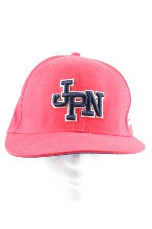 Superdry Schirmmütze pink-blau Schriftzug gestickt Casual-Look