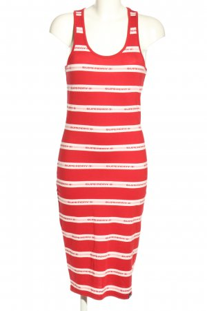 Superdry Tube Dress red-white printed lettering casual look