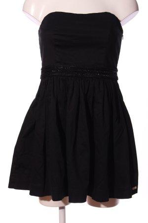 Superdry schulterfreies Kleid schwarz Casual-Look