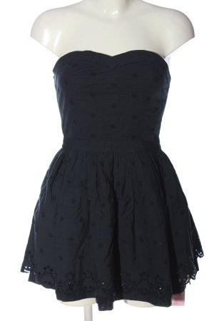 Superdry schulterfreies Kleid blau Allover-Druck Casual-Look
