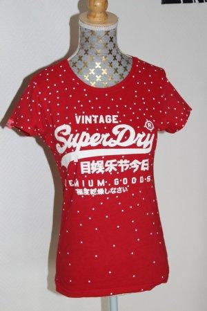 Superdry Shirt Gr. XS rot Polka dots