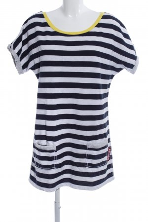 Superdry Shirtkleid blau-weiß Streifenmuster Casual-Look