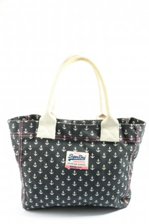 Superdry Shopper black-white allover print casual look