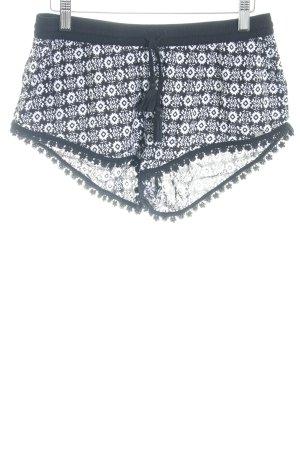 Superdry Shorts schwarz-weiß abstraktes Muster