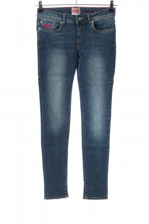 Superdry Skinny Jeans blau Casual-Look