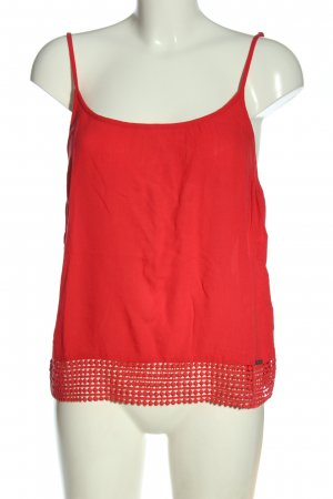 Superdry Spaghettiträger Top rot Casual-Look