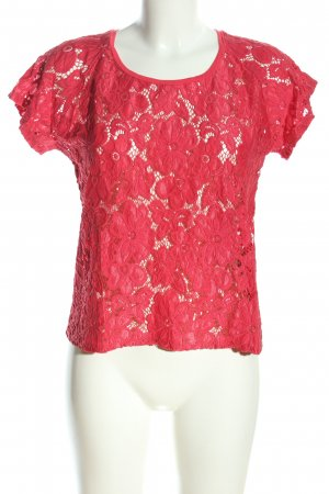 Superdry Spitzenbluse pink Blumenmuster Casual-Look