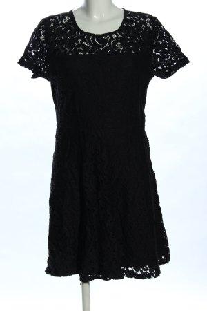Superdry Spitzenkleid schwarz Blumenmuster Elegant