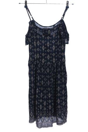 Superdry Spitzenkleid schwarz-weiß Allover-Druck Casual-Look