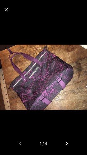 Superdry Bolsa de gimnasio negro-violeta oscuro
