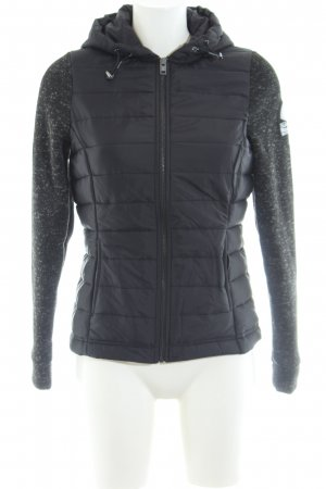 Superdry Steppjacke schwarz meliert Casual-Look