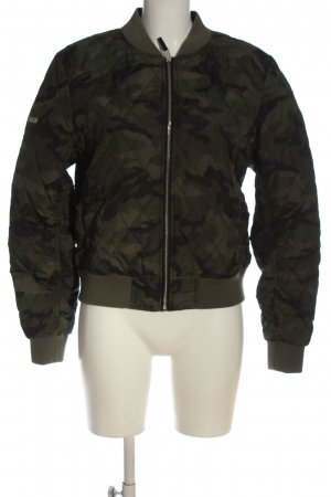 Superdry Quilted Jacket khaki-black camouflage pattern casual look