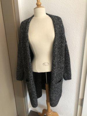 Superdry Knitted Coat black-white