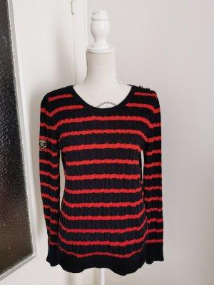 Superdry Maglione lavorato a maglia nero-rosso
