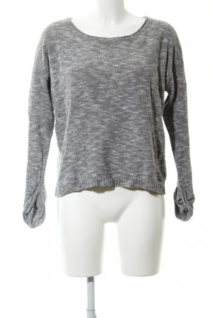 Superdry Strickpullover hellgrau Allover-Druck Casual-Look