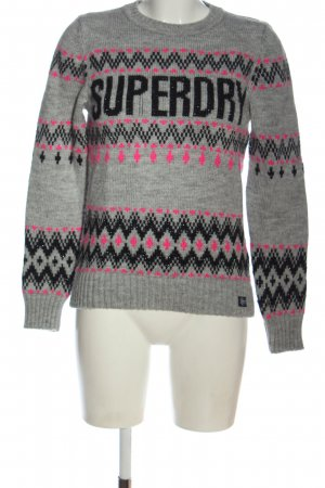 Superdry Strickpullover Allover-Druck Casual-Look