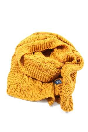 Superdry Écharpe en tricot orange clair torsades style décontracté
