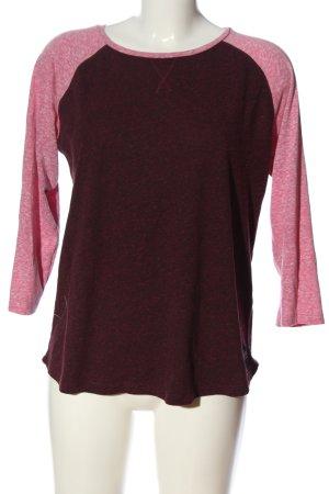 Superdry T-shirts en mailles tricotées brun-rose moucheté style décontracté