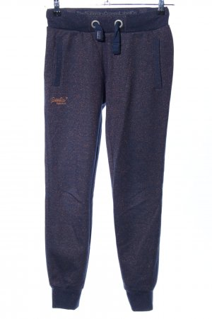 Superdry Sweat Pants blue-gold-colored flecked glittery