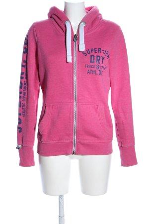 Superdry Veste sweat rose-bleu moucheté style décontracté