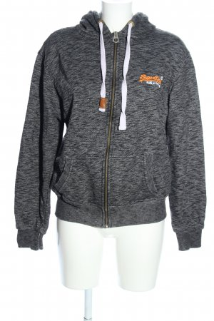 Superdry Sweat Jacket light grey flecked casual look