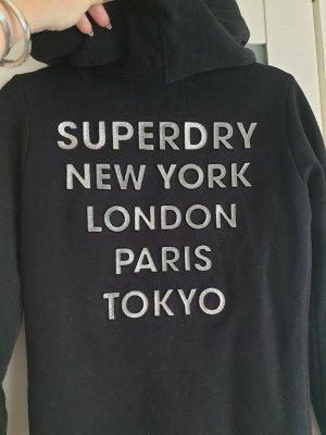 SUPER DRY Kurtka dresowa czarny