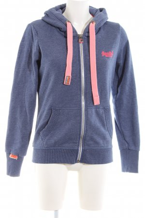 Superdry Sweatjack blauw-roze casual uitstraling