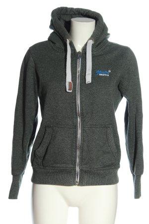 Superdry Sweat Jacket light grey-khaki flecked casual look