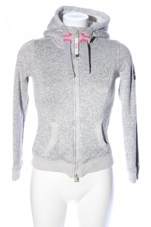 Superdry Sweatjacke hellgrau meliert Casual-Look
