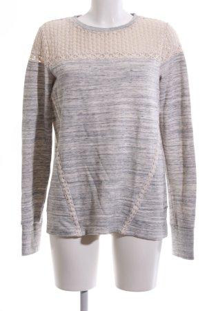 Superdry Sweatshirt creme-hellgrau meliert Casual-Look